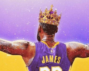 b08a5098856 Lebron James Lakers Crown Poster or Canvas