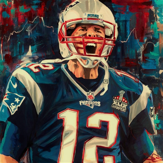 6140c20628fee Tom Brady Poster Superbowl or Canvas