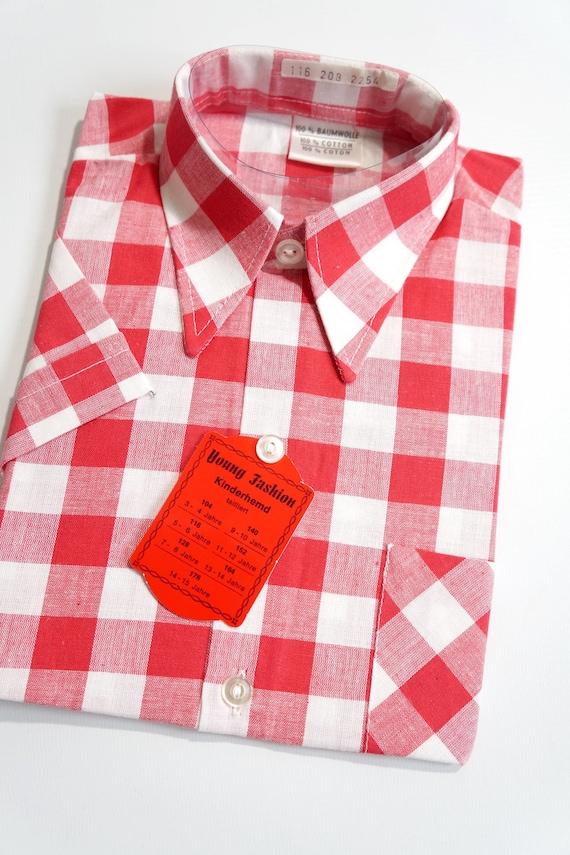 New 70s Shirt 116 retro costumes Waldorf Vichy
