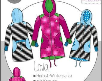 ki-ba-doo sewing patterns and instructions children's parka lova winter/autumn parka