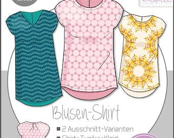 ki-ba-doo sewing pattern and instructions women's basic blouses shirt tunic webware