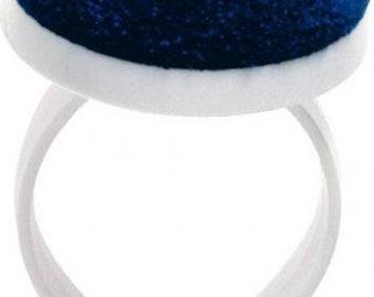 Armpin cushion with clasp white plum blue violet