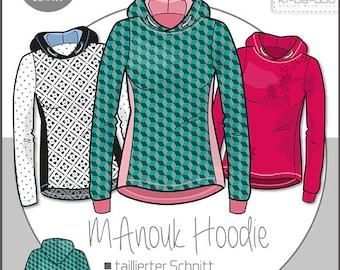 ki-ba-doo sewing pattern and instructions women's MAnouk hoodie