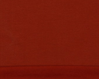 Organic Cotton Wintersweat Soft Sweat terracotta copper GOTS certified organic fabric Baby French Terry