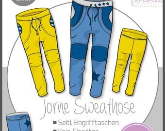 ki-ba-doo sewing pattern and instructions kids Jorne sweatpants Basic