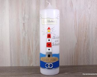 Hochzeitskerze Leuchtturm