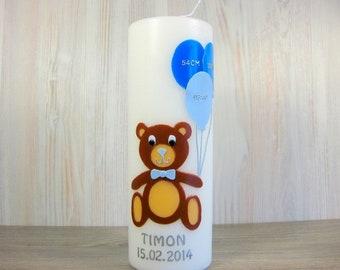 Geburtskerze Teddy, Geschenk zur Geburt
