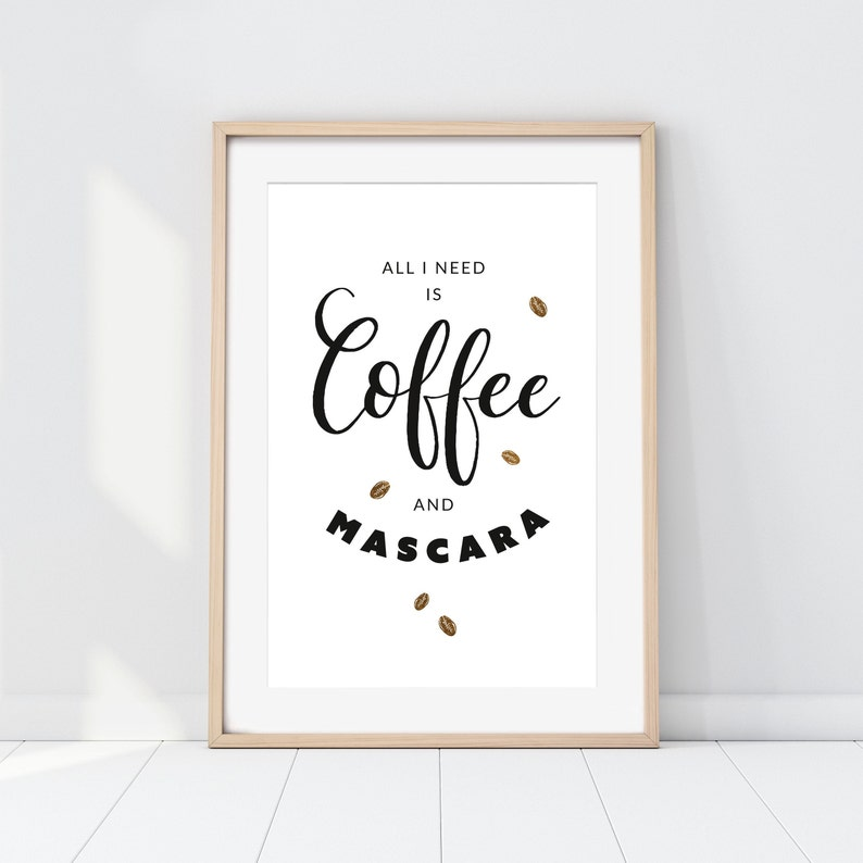 Coffee & Mascara  Poster Print Druck Kunstdruck image 0