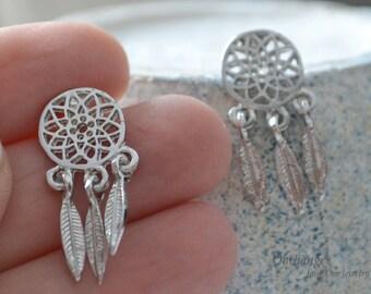 Earrings Studs Dreamcatcher