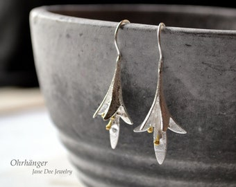 925 Silver Earrings Lily Blossoms