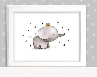 Elefanten Poster Etsy