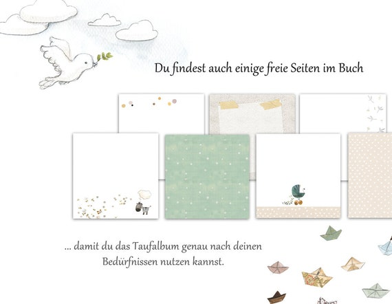 Taufalbum Taufbuch Taufgeschenk Geschenk Zur Taufe Taufe