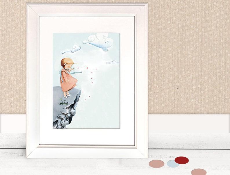 Kinderbild Mädchen fürs Kinderzimmer Poster | Etsy