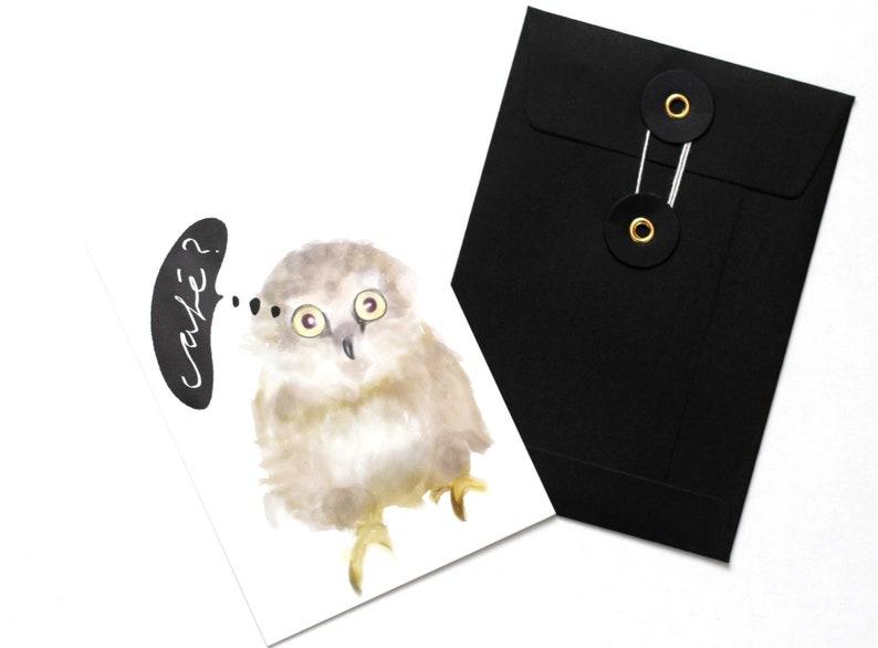 Gift envelope Black Din A6