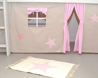 Etagenbett Vorhang : Vorhang fuer hochbett etsy