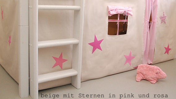 Stars High Bettvorhang Bunk Bed Etsy