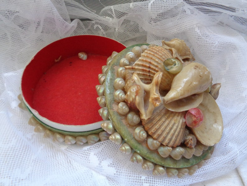 Shell can-jewellery can-enchanting antikeold tin-storage-1955