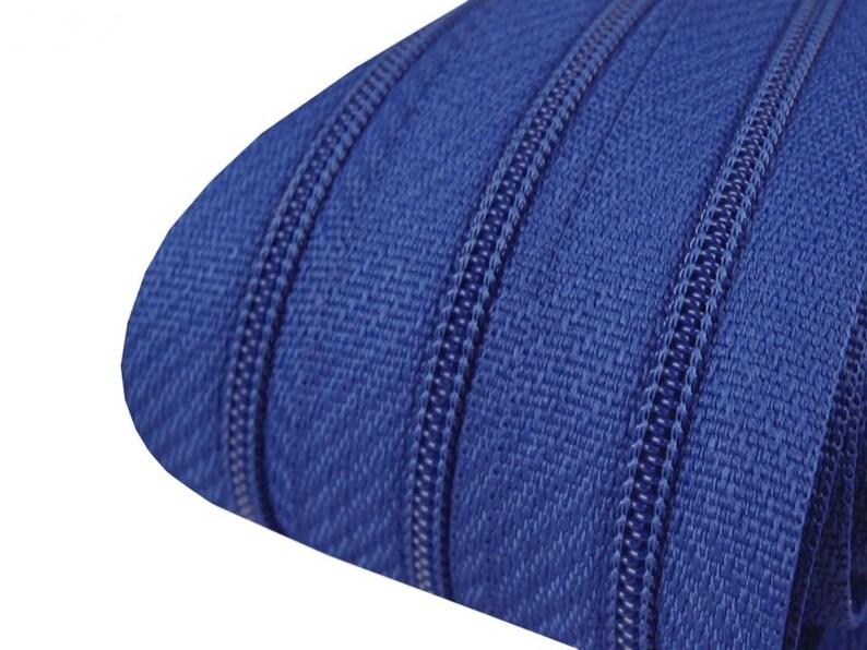 3 m endless zipper royal blue 3 mm 15 zipper
