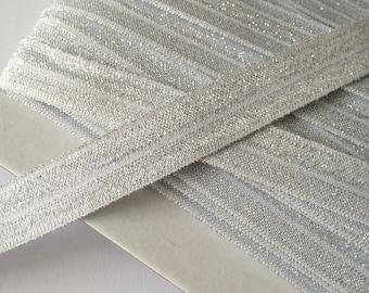 2m Folding Gum white with Glitter