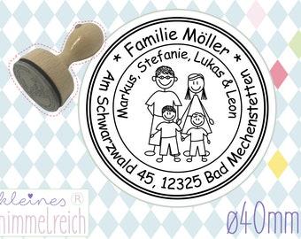 40mm Durchmesser rund Frohe Ostern Stempel rund #1