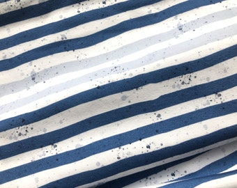 Lillestoff Summersweat Whales Stripes enemenemeins