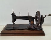 antique singer sewing machine, table model, hand crank, 12K, vintage, brocante, country house decoration