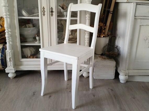 Antiker Stuhl Gründerzeit Shabby Weiß   Etsy