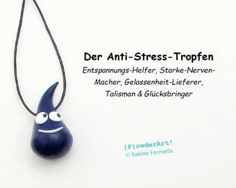 Glücksbringer Anti-Stress-Tropfen in dunkelblau / Ruhe und Gelassenheit