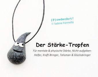 Stärke-Tropfen in granit grau / Glücksbringer & Talisman / Geschenk für Männer