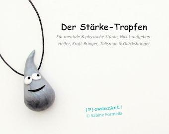 Stärke-Tropfen in silber-metallic / Glücksbringer & Talisman / Geschenk für Männer
