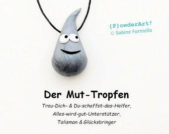 Mut-Tropfen silber-metallic / Glücksbringer & Talisman / Geschenke für Männer