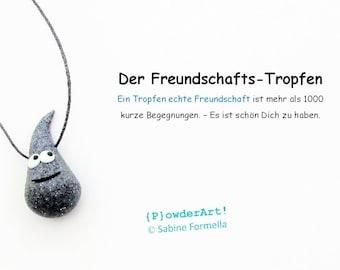 Freundschafts-Tropfen in granit / Glücksbringer & Talisman / Geschenke für Freunde