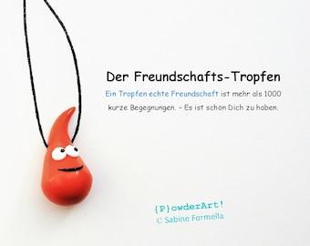 Freundschafts-Tropfen in orange / Glücksbringer & Talisman / Geschenke für Freundinnen