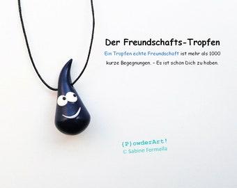 Freundschafts-Tropfen in dunkelblau / Glücksbringer & Talisman / Geschenk für die Freundin