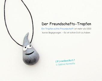 Freundschafts-Tropfen in silber-metallic / Glücksbringer & Talisman / Geschenk für beste Freunde
