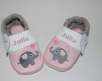 Leather pussies/ crawling shoes elephant