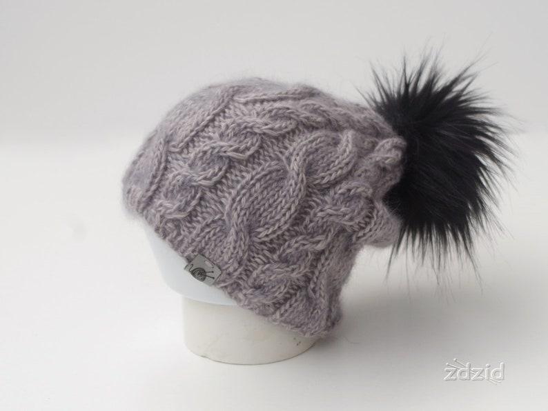 91d9a54ef Alpaca hat, grey, silver, pompom