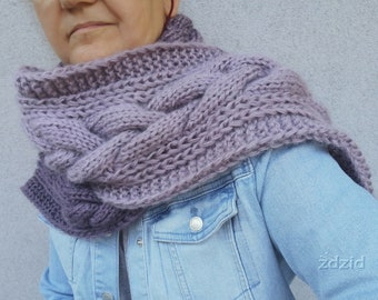 Heather scarf ombre