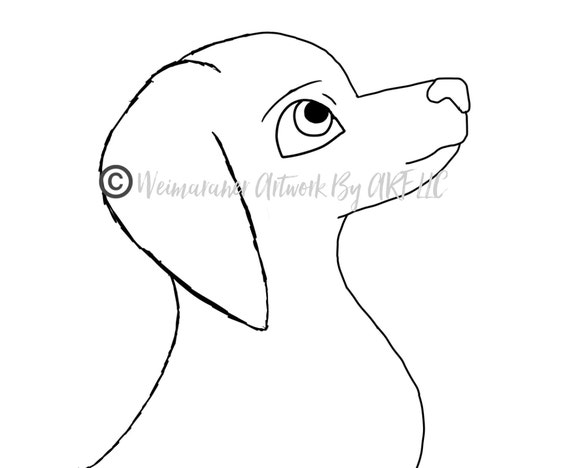 Weimaraner Puppy Cartoon Digital Download Coloring Page Etsy
