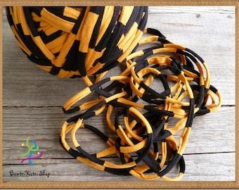1 m textile yarn black-mustard yellow
