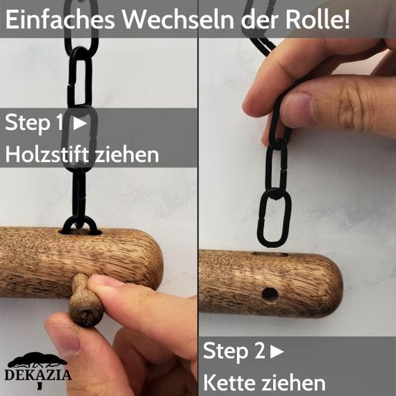 Toilettenpapierhalter Ohne Bohren Edles Mango Holz Schwarzweiß