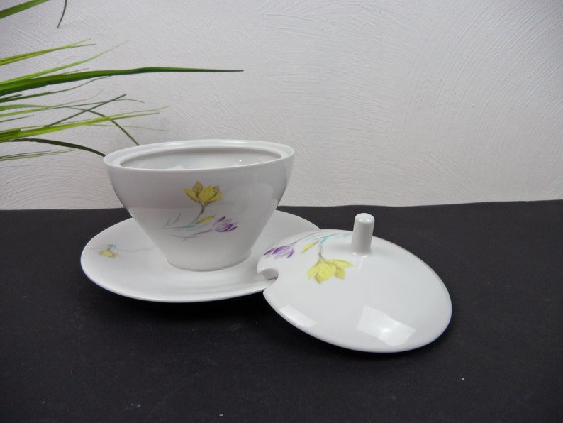 porcelain bowl HUTSCHENREUTHER SAUCIERE with lid old bowl as flower pot sauce pot vintage 60s ARZBERG sauce bowl lid dupert