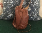Oil Tanned leather drawst...