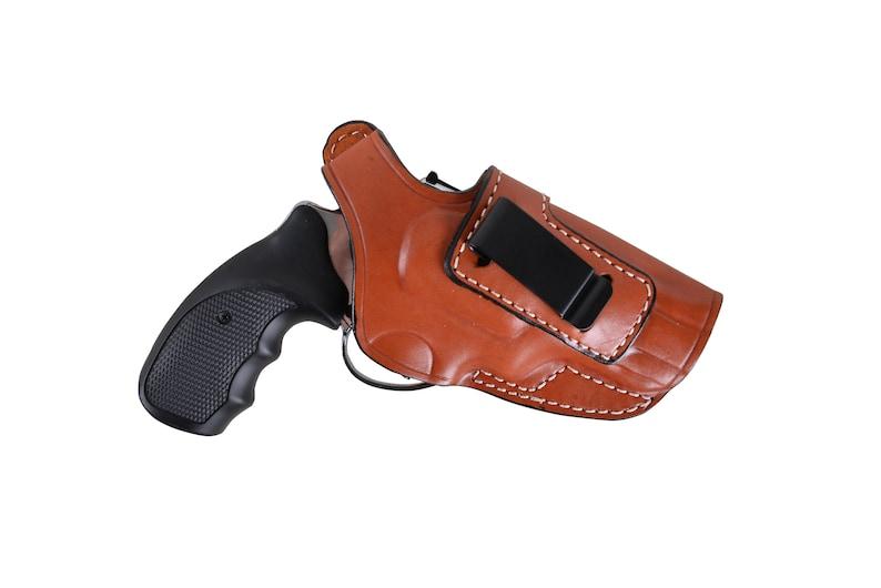Revolver SW 686 357 Magnum IWB 2 5 / 3 Barrel Leather Gun Belt Custom  Holster Concealed Carry Clip Handmade