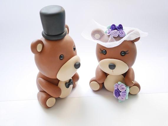 Personalisierbare Hochzeitstortenfiguren Baren Etsy