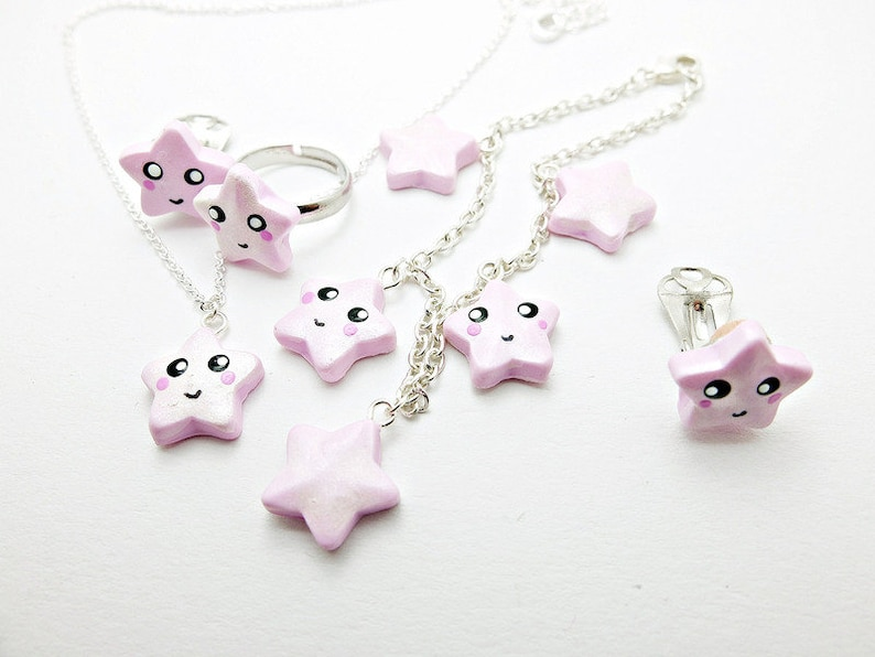 Earclips star TWINKLE with Pearl Ex pigments