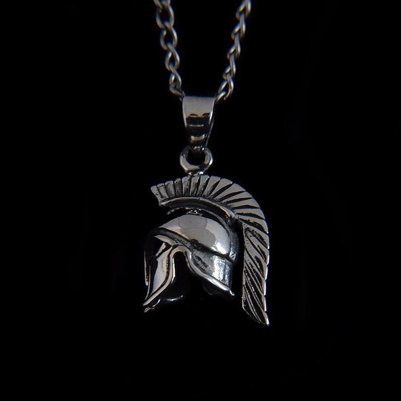 Handmade Pendant Gift for Him Spartan Helmet 925 Sterling Silver Handmade Pendant for Men Pendants for Men Silver Pendant Orientalist
