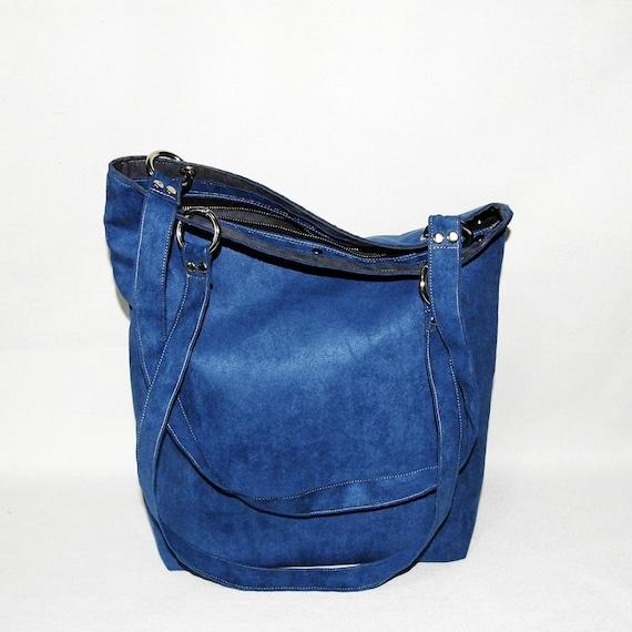 205ce66063a Navy blue shopper bag   blue handbag   marine blue purse     Etsy