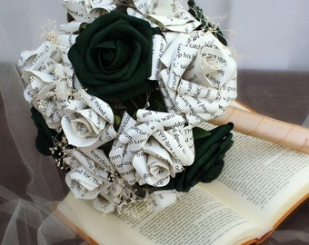 The Lord of the Rings Inspired Wedding Bouquet   Book Themed Wedding Bouquet   First Anniversary Gift