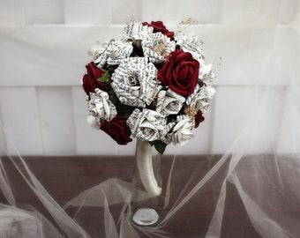 Classic Literature Wedding Bouquet   Book Themed Wedding Bouquet   First Anniversary Gift